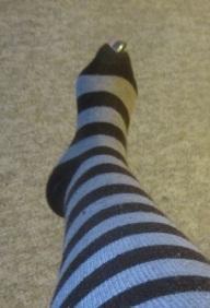socks, stripe socks, knee-highs, dance wear